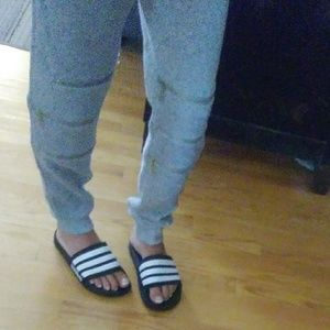 Pants - Gray joggers with zippers NWOT Sz Small
